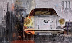 White Porsche 911 by Markus Haub -  sized 39x24 inches. Available from Whitewall Galleries