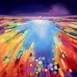 Sunburst Sea I by Anna Gammans -  sized 32x32 inches. Available from Whitewall Galleries
